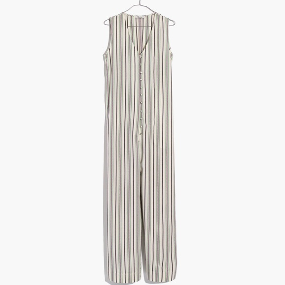6c2207b0 Madewell Pants | Striped Button Down Jumpsuit Xs | Poshmark